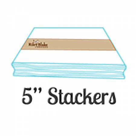 Swiss Dot On White Color Coral  5in Stackers 42pcs, 3 bundles/pack