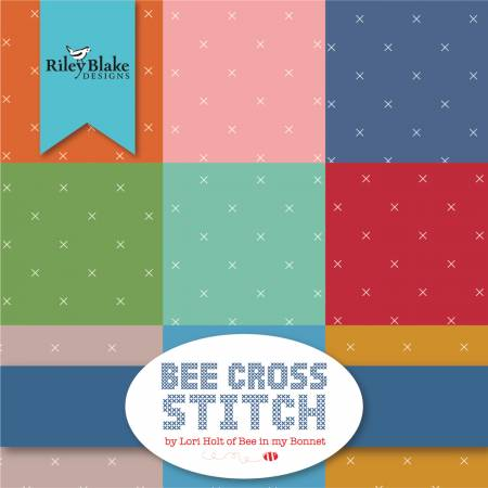 Bee Cross Stitch, 5 inch Squares (42 pieces) - Lori Holt - Riley Blake Designs