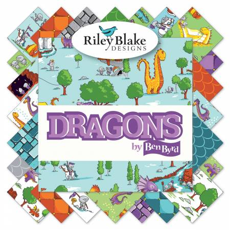 Dragons 5in Square, 42 Pcs