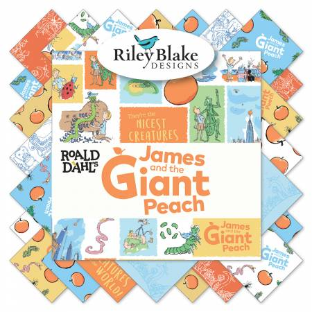 James And The Giant Peach 5in Squares, 42 Pcs