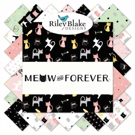 Meow And Forever 5in Squares, 42pcs
