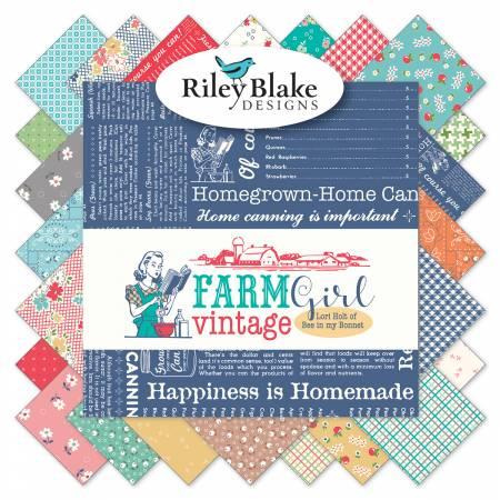 Farm Girl Vintage 5in Squares, 42pcs, 3 bundles/pack