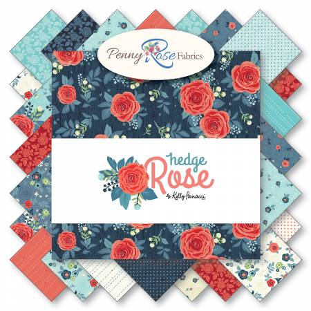 Hedge Rose 5in Squares, 42pcs