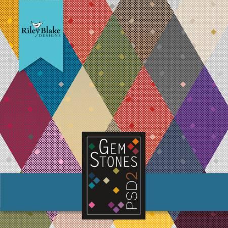 Gemstones 5in Squares 42pcs/bundle