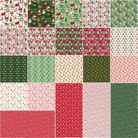 Merry And Bright 5in Squares, 42pcs, 3 bundles/pack