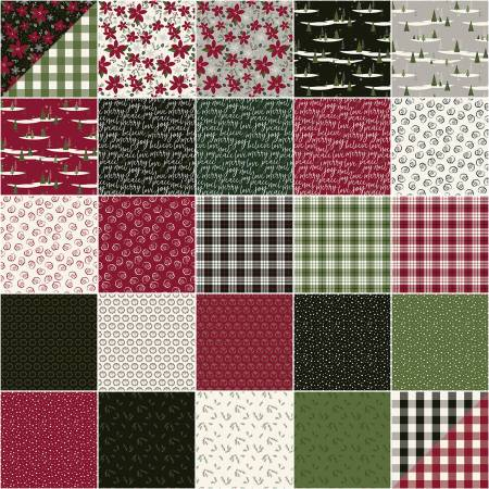 Winterberry 5in Squares, 42pcs, 3 bundles/pack