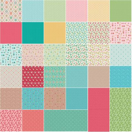 Granny Chic 5in Squares, 42pcs, 3 bundles/pack