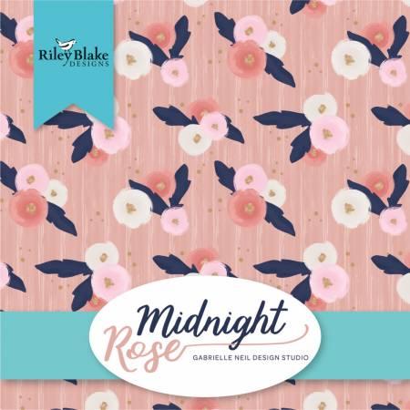 5in Squares Midnight Rose 42pcs, 3 bundles per pack