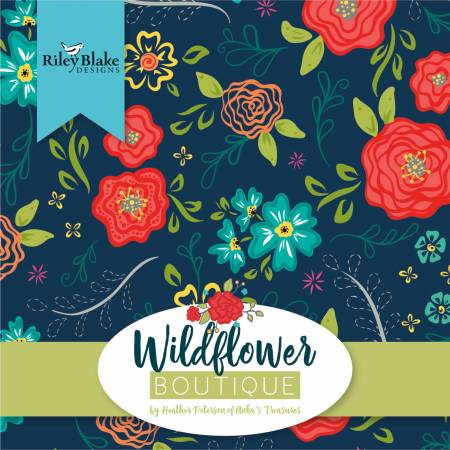 5in Squares Wildflower Boutique, 42pcs, 3 bundles per pack