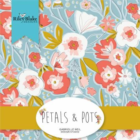 5in Squares Petals & Pots, 42pcs, 3 bundles per pack