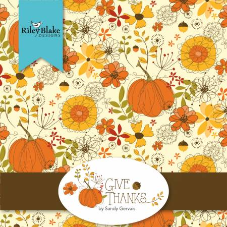 Give Thanks 5in Squares, 42pcs