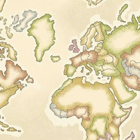 Continents on Cream