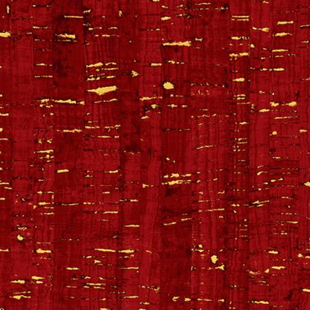 Merlot Cotton Print cork like appearance w/metallic