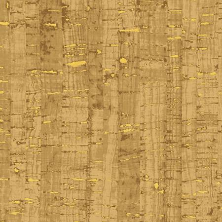Cork Cotton Print cork like appearance w/metallic