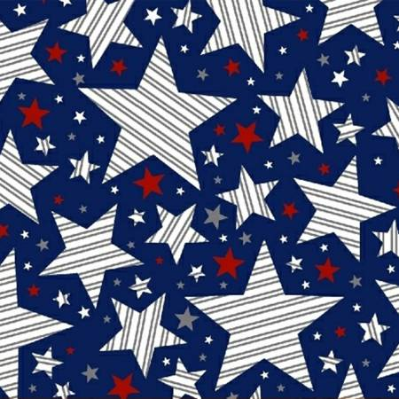Navy Striped Stars