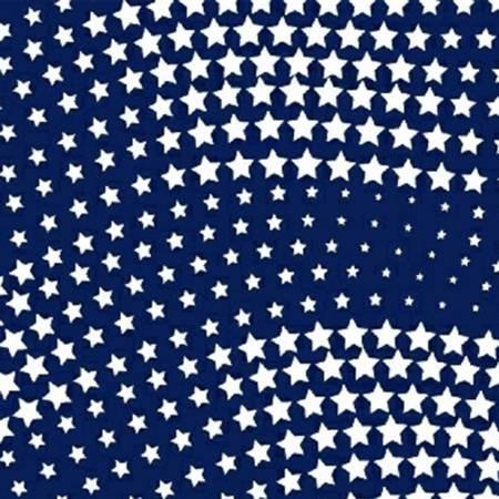 Navy Wavy Stars