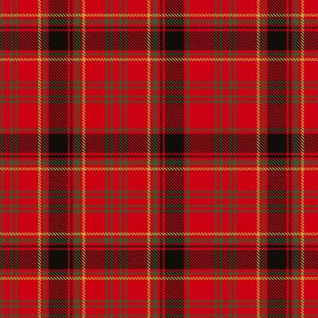 Red Plaid w/Metallic