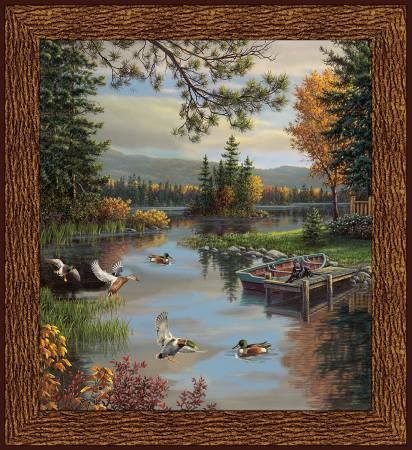 Windham Fabrics - Lakeside by Whistler Studios - Digitally Printed Panel of Dockside View