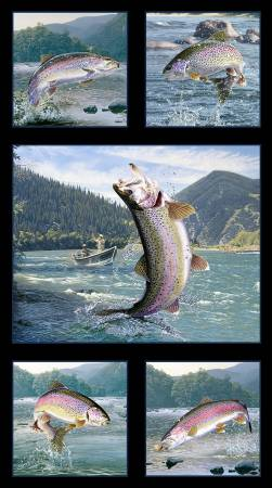 Tight Lines - Black Trout Panel