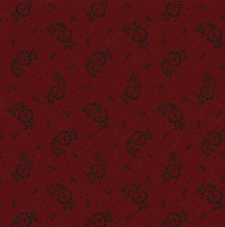 Burgundy Floral Sprig