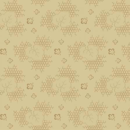 Gathering - Tan Honeycomb Leaf