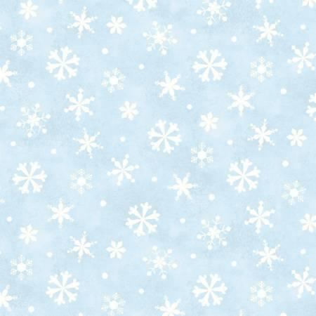 Blue Snowflakes- Winter Wishes