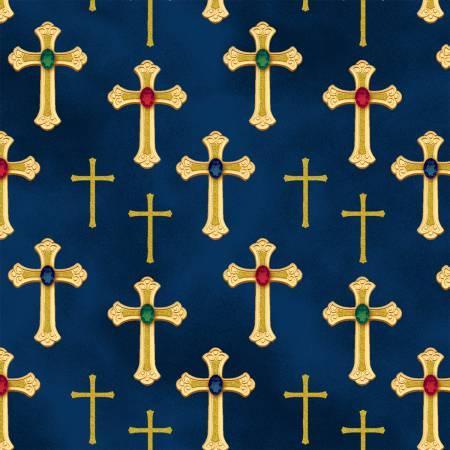 Sapphire Crosses w/Metallic 50355M-1