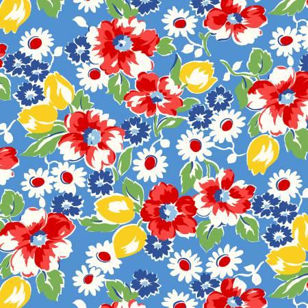 Sugar Sack Blue Sack Floral 50429-2