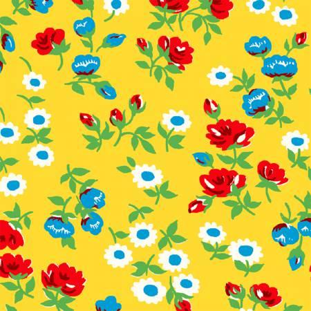 Sugar Sack Yellow Mini Floral 50430-3