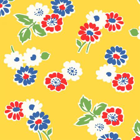 Sugar Sack Yellow Tossed Floral 50435-3