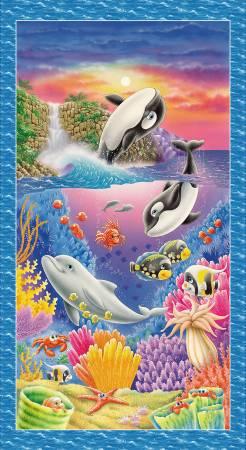 Royal Sea Creature Banner Panel 2/3yd
