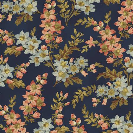 Navy Floral Sprigs