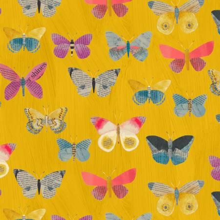 Wonder Newspaper Butterflies Mustard