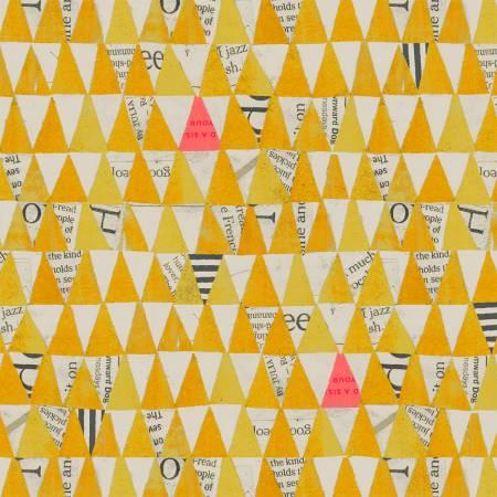 Wonder Stacked Triangles in Mustard