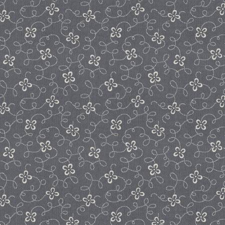 Charcoal Squiggle Floral