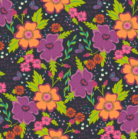 Charcoal Gypsy Floral