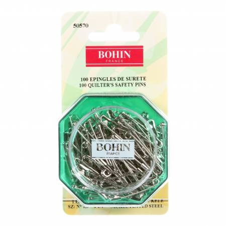 Bohin Safety Pin Straight - Size 1.5 - 100ct