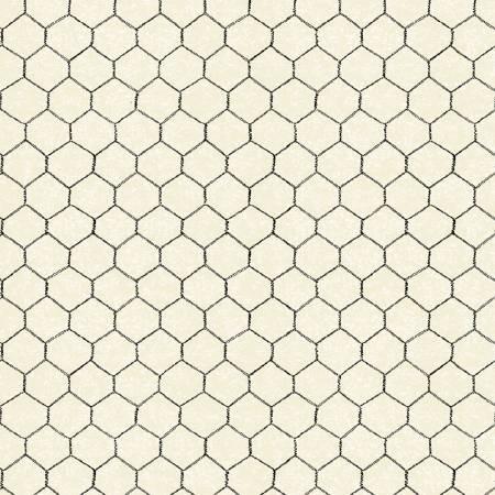 Windham Fabrics - Sunflower Market by Whistler Studios -  Cream  Chicken Wire