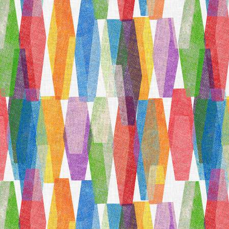 Multi-Color Lava Lamp on White Background-108in Quilt Back