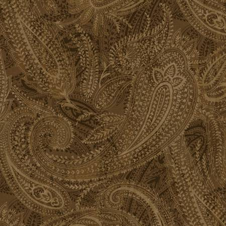 Windham - 108 Wide Quilt Backing - Paisley/Brown - 50663-5