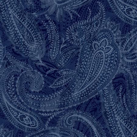 50663-8 108 Quilt Back Blue Paisley