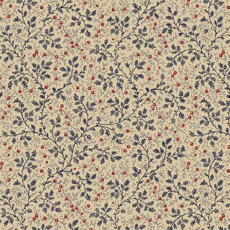 Navy Berry Vine 108in Quilt Back by Windham Fabrics 50665 - 2 *