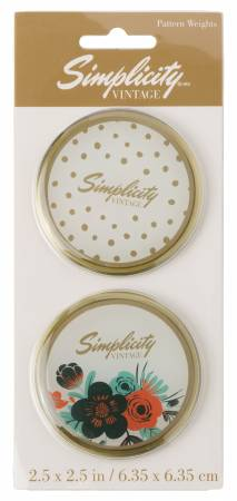 Vintage Pattern Weights with Floral and Dots