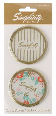 Vintage Pattern Weights with Floral and Strips