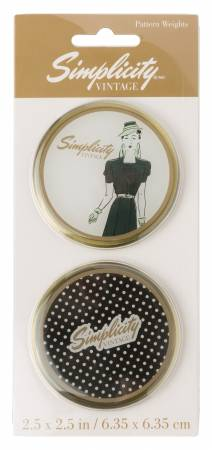 Vintage Pattern Weights with Lady and Dot