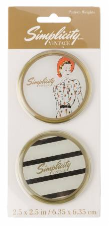 Vintage Pattern Weights Lady and Stripe