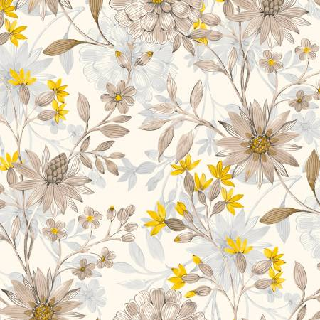 White Large Floral