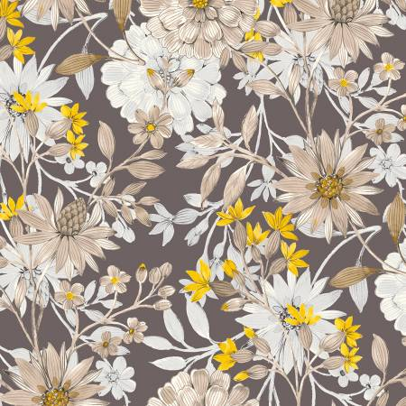 Charcoal Large Floral
