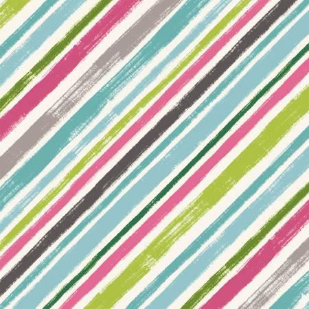 Aqua Diagonal Stripe