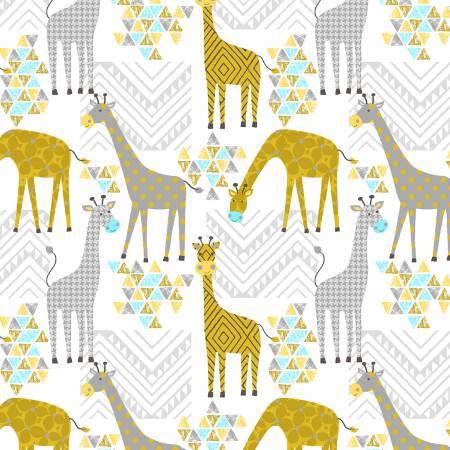 Baby Giraffes on White